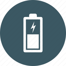 battery, charging, vertical icon