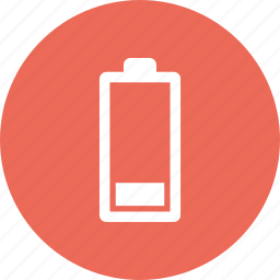 battery, medium, power icon