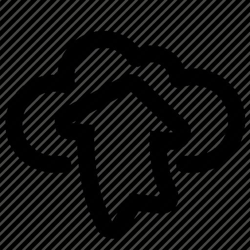 arrow, cloud, up, upload, uploading icon