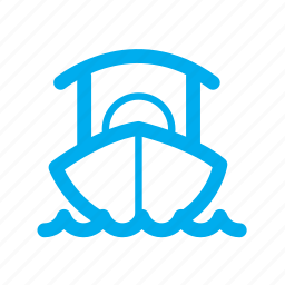 boat, float, on water, ship, transportation, water floating, yacht icon