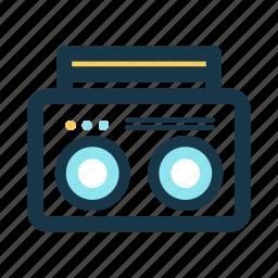 audio, beach, boombox, essentials, music, player icon