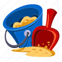 beach, bucket, holidays, ocean, sea, summer, vacation icon