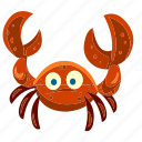 animal, beach, crab, food, marine, sea, summer icon