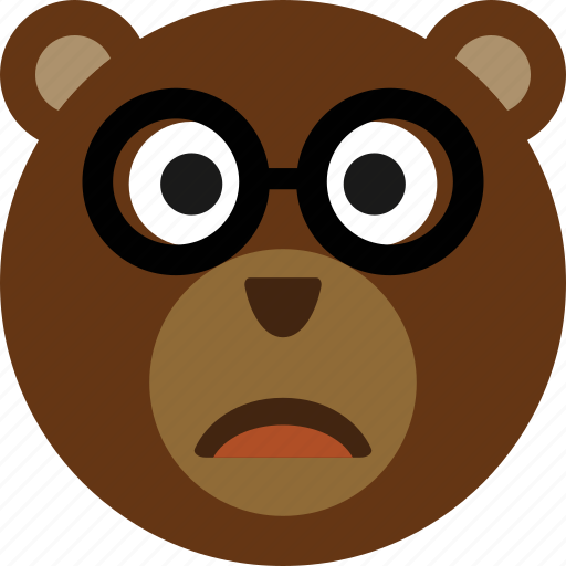bear, emoticon, expression, face, smile icon