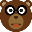 bear, emoticon, expression, face, smile