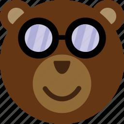 bear, emoticon, expression, face, smile icon