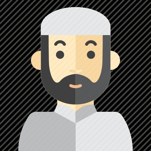beard, man, moslem, saudi icon