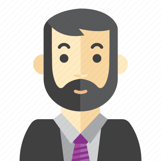 beard, boss, man, staff icon
