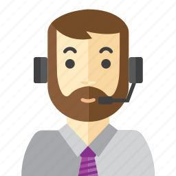 beard, call, man, office, staff icon