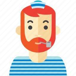 beard, man, ocean, sailor, sea icon