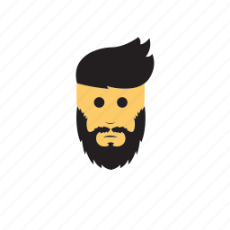 avatar, beard, emoticons, men icon