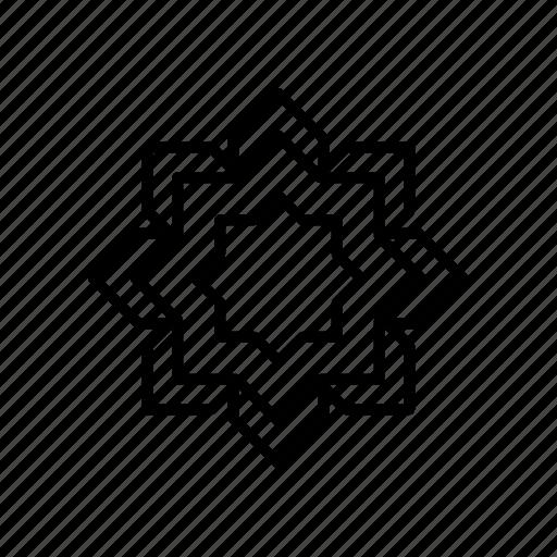 geometry, islamic, ornament, pattern icon