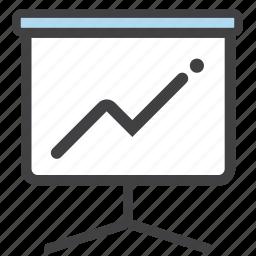 analytics, diagram, graph, presentation, report, sales, statistics icon