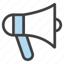 alert, announcement, bullhorn, hailer, loud, megaphone icon