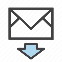 download, email, envelope, import, letter, mail, receive icon