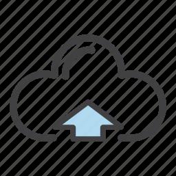 arrow, cloud, send, up, upload icon