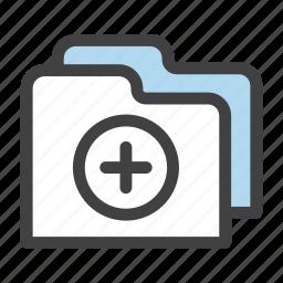 add, folder, folders, new icon