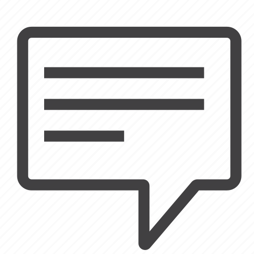 chat, comment, communication, message, messenger, speak, talk icon