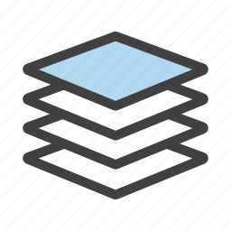 arrange, layer, layers, photoshop, stack icon