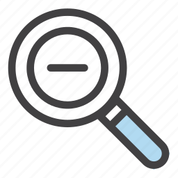 minimize, out, reduce, search, zoom, zoom out icon