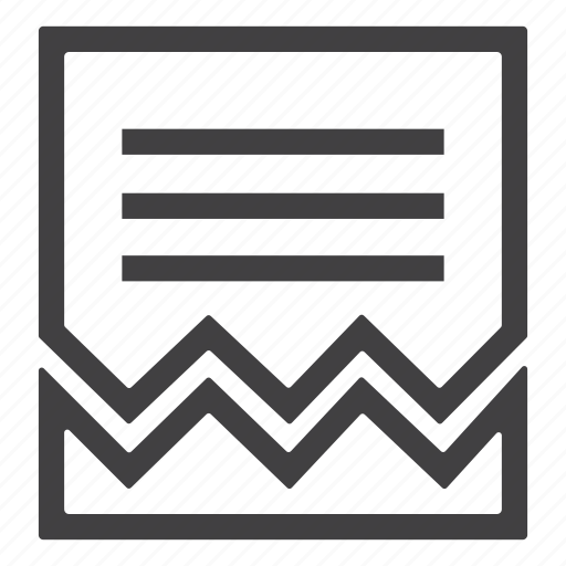 bill, document, file, invoice, paid, paper, receipt icon