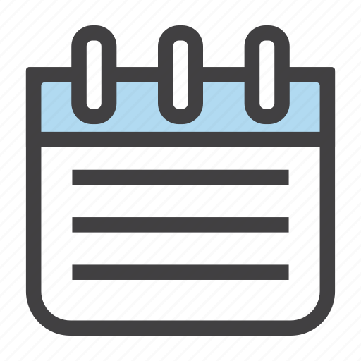 appointment, diary, meeting, notes, plan, tasks icon