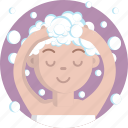 bathing, washing, beauty, woman