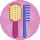 beauty, comb, hair, brush icon