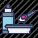 hair, tint, dye, brush
