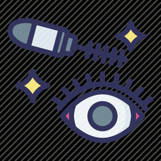 Mascara, eye, brush, tapering icon - Download on Iconfinder