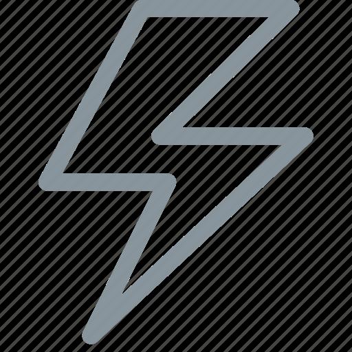 flash, storm, thunder icon