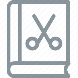 book, gallery, hair, hairstyle, library, scissor icon