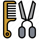 barbershop, beaut, comb, cut, cutting, hairdresser, scissors icon