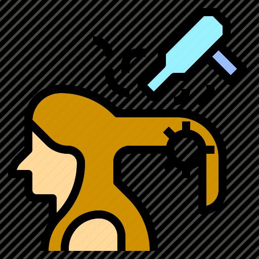 Blow, brush, curler, dry, dryer, hair, salon icon - Download on Iconfinder