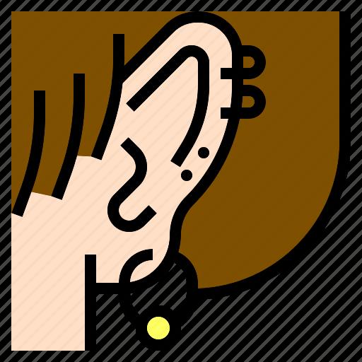 accessories, cartilage, ear, earrings, fashion, jewelry, piercings icon