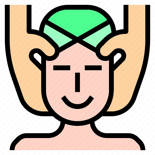 face, facial, massage, masseuse, relax, spa, therapy icon