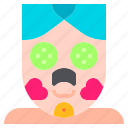 blackheads, charcoal, cucumber, facial, relax, spa, treatment icon