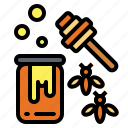 bee, honey, jar, sweet icon