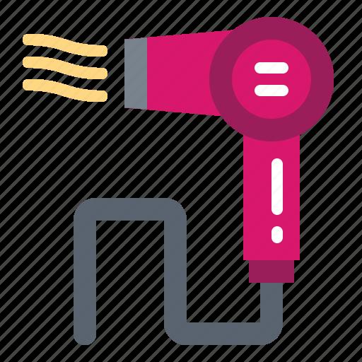Hair, hairdresser, hairdryer, salon, style icon - Download on Iconfinder