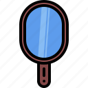 beauty, cosmetics, handle, makeup, mirror icon