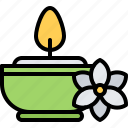 aromatherapy, beauty, candle, flower, makeup, spa icon
