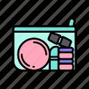beauty, beauty bag, make up, makeup icon