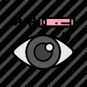 beauty, eye, make up, makeup, mascara icon