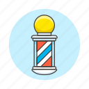 barber, barbershop, beauty, hair, hairdresing, hairdresser, hairstyle, pole, shop, stylist icon