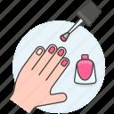 beauty, cosmetic, enamel, fuchsia, hand, magenta, make, makeup, manicure, nail, pink, polish, up, varnish icon