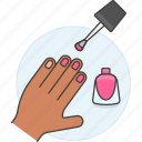 pink, enamel, manicure, beauty, polish, make, cosmetic, fuchsia, makeup, magenta, up, nail, varnish, hand icon