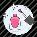 beauty, cosmetic, enamel, fuchsia, magenta, make, makeup, nail, pink, polish, up, varnish icon