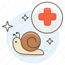 based, beauty, care, massage, product, regeneration, restoration, skin, slime, snail, theraphy icon
