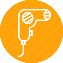 beauty, blower, care, dryer, hair, parlour, treatment icon