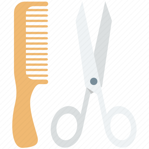 comb, hair comb, hair salon, hairdressing, scissor icon